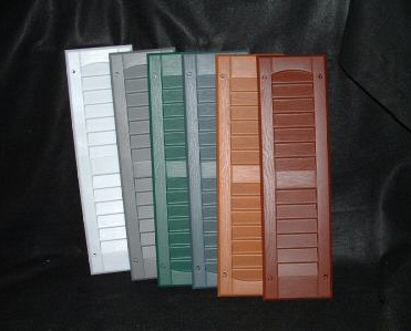 Decorative Exterior Shutters Available As Paintable Or Solid Color