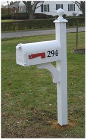 Decorative Aluminum Post Mailbox Package